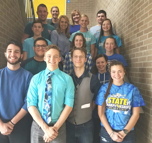 Students and staff dressing in blue for National Law Enforcement  Appreciation Day